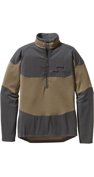 Patagonia M's R1 Field 1/4 Zip L/S Shirt Ash Tan